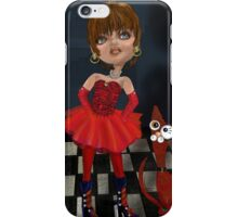 Matilda and her Cat, by Alma Lee iPhone Case/Skin