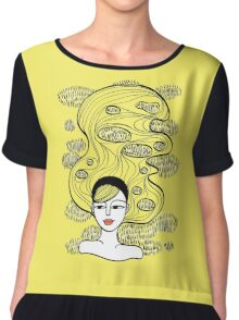 Lemon Grass Women's Chiffon Top