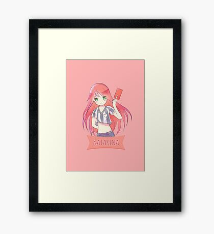 Red Card Katarina chibi Framed Print
