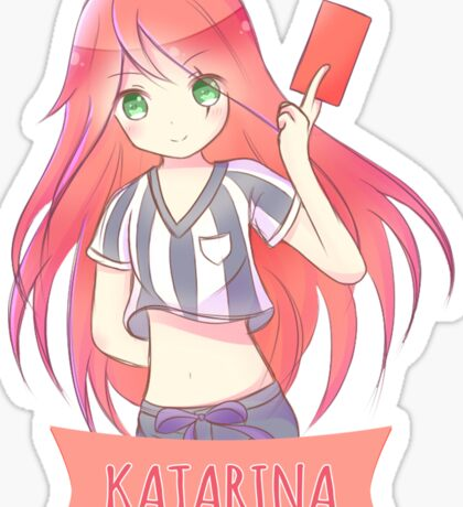 Red Card Katarina chibi Sticker