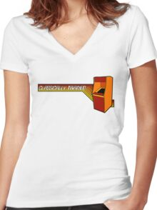 Classically Trained Video Gamer Women's Fitted V-Neck T-Shirt