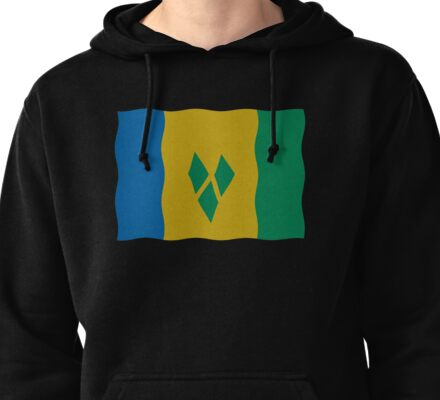 St Vincent and the Grenadines flag Pullover Hoodie