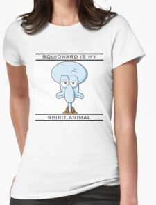 Squidward is my Spirit Animal Womens Fitted T-Shirt