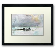 Birds of a Feather Under Ochre Skies Framed Print