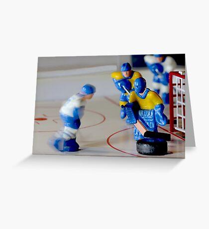 hockey goalie macro shot Greeting Card