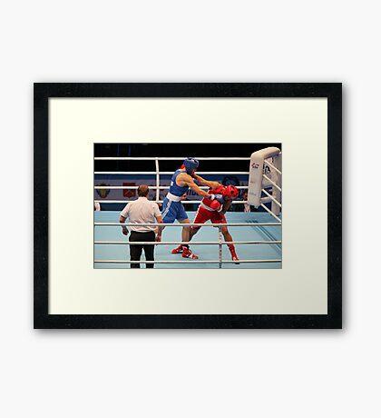 boxer muscular arm Framed Print