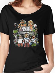 Grand Theft Mario Women's Relaxed Fit T-Shirt