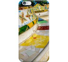 Curved benches inside Gaudi's Park Guell, Barcelona iPhone Case/Skin