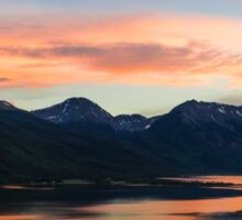 Colorado Mountain Sunset on the Twin Lakes Sticker