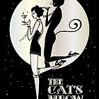Gatsby Girl Flapper The Cat's Meow (black, silver & pearl) by CecelyBloom