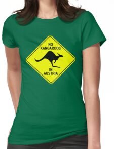 NO KANGAROOS IN AUSTRIA Womens Fitted T-Shirt