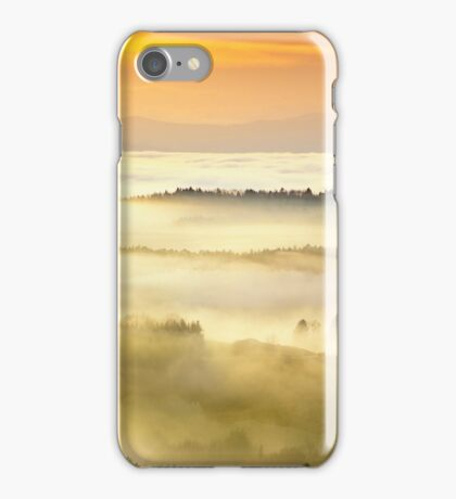 A sea of fog over styrian hills iPhone Case/Skin