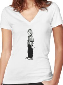 Calvin and Hobbes- Calvin's Dad Women's Fitted V-Neck T-Shirt