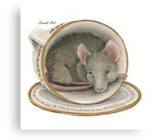 Tea Cup Mouse Canvas Print