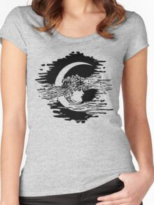 Woman and the Moon Women's Fitted Scoop T-Shirt