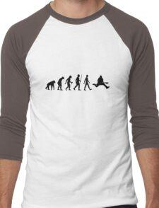 The evolution of guitarist. I love to play guitar. Men's Baseball ¾ T-Shirt