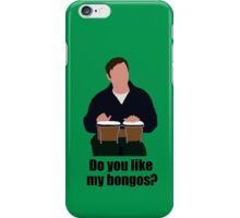 Sheldon Cooper Playing Bongos (with quote) - Minimalist design iPhone Case/Skin