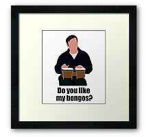 Sheldon Cooper Playing Bongos (with quote) - Minimalist design Framed Print