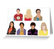 The Big Bang Theory Cast - Minimalist design Greeting Card