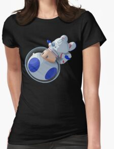 Toad In Space Womens Fitted T-Shirt