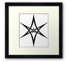 Unicursal Hexagram, Pentagram, Star Framed Print