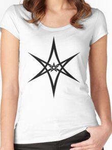 Unicursal Hexagram, Pentagram, Star Women's Fitted Scoop T-Shirt