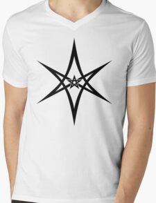 Unicursal Hexagram, Pentagram, Star Mens V-Neck T-Shirt