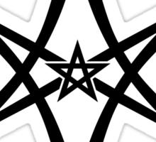 Unicursal Hexagram, Pentagram, Star Sticker