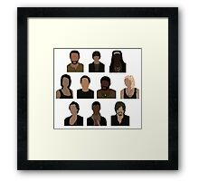 The Walking Dead Cast - Minimalist style Framed Print