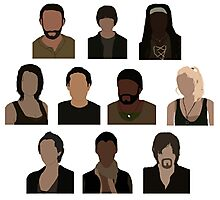 The Walking Dead Cast - Minimalist style Photographic Print