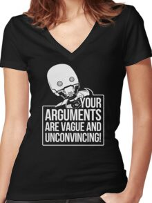 Vague And Unconvincing Women's Fitted V-Neck T-Shirt