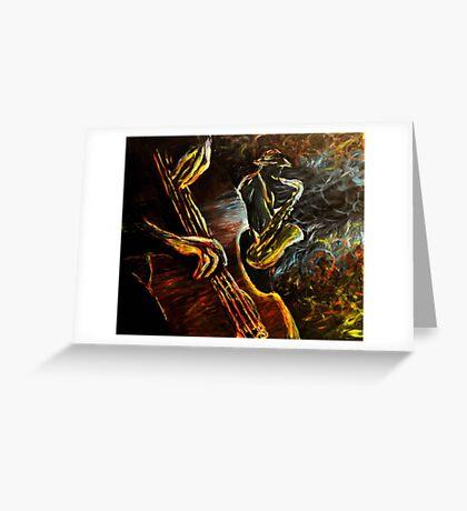 Jazz night Greeting Card