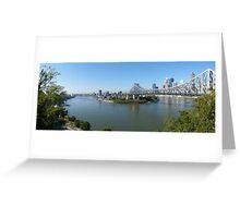 Brisbane panorama Greeting Card