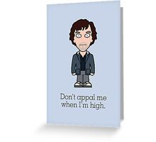 Scruffy Sherlock (card) Greeting Card