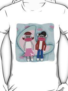 Sock Hoppin Sock Monkeys 2 T-Shirt