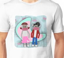 Sock Hoppin Sock Monkeys 2 Unisex T-Shirt