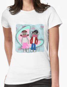 Sock Hoppin Sock Monkeys 2 Womens Fitted T-Shirt
