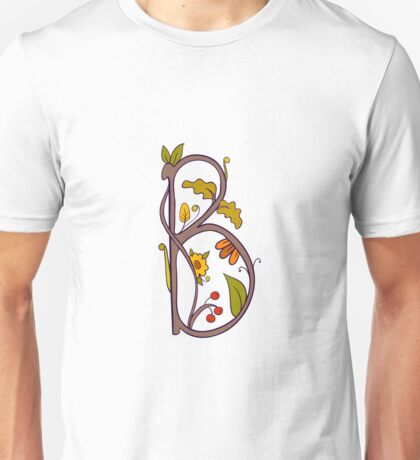 Natural alphabet  - letter B Unisex T-Shirt