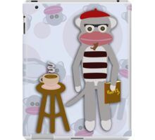 Hipster Beatnik Sock Monkey iPad Case/Skin