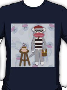 Hipster Beatnik Sock Monkey T-Shirt