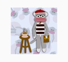 Hipster Beatnik Sock Monkey Unisex T-Shirt