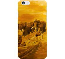 Monks and Elephants iPhone Case/Skin