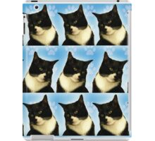 Cute Tuxedo Cat Pattern  iPad Case/Skin