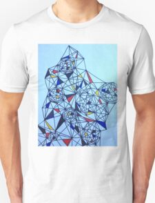Geometric Drawing in Primary Colors; Mondrian-inspired T-Shirt