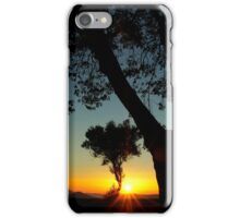 Sunset behind the trees ~ 2 iPhone Case/Skin