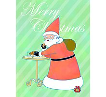 Gourmand Santa with his cookies Photographic Print
