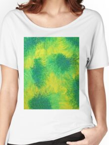 Geometric Lemon Lime Oil Pastel Etching Women's Relaxed Fit T-Shirt