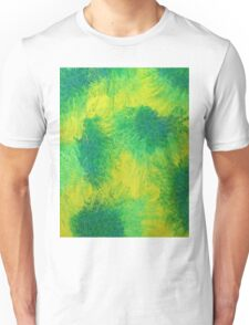 Geometric Lemon Lime Oil Pastel Etching Unisex T-Shirt