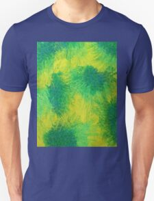 Geometric Lemon Lime Oil Pastel Etching T-Shirt