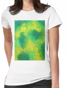 Geometric Lemon Lime Oil Pastel Etching Womens Fitted T-Shirt